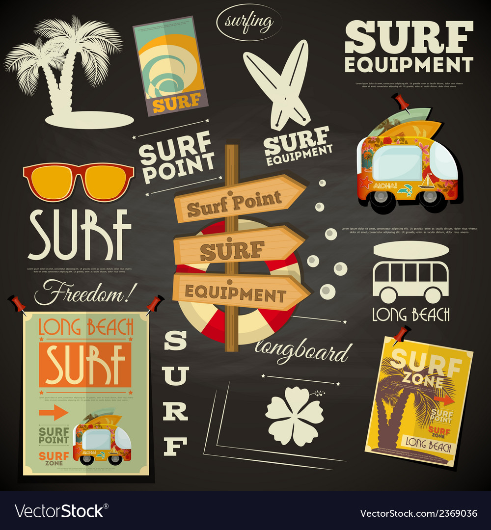 Chalk surf vector