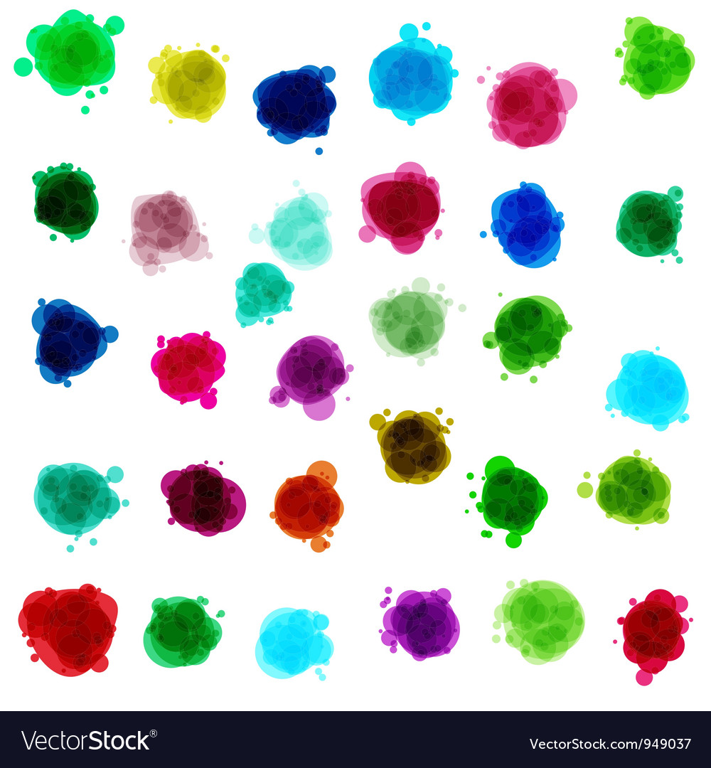 Ink drop stains vector