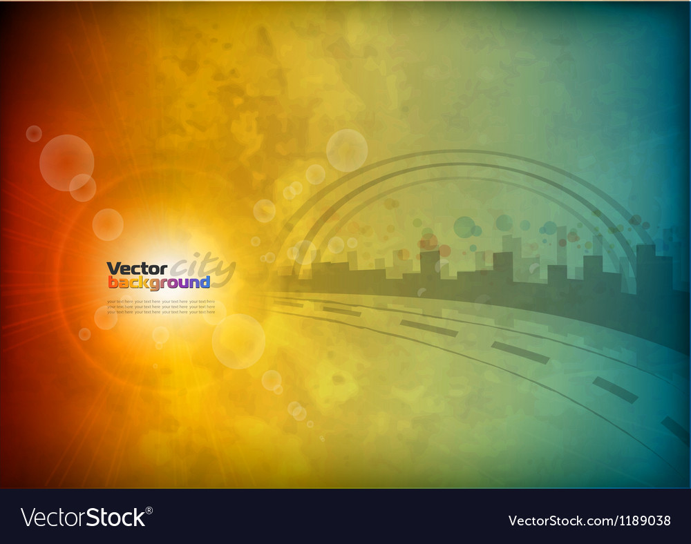 City abstract background vector
