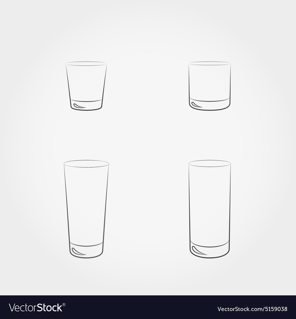 Classic glassfuls set vector