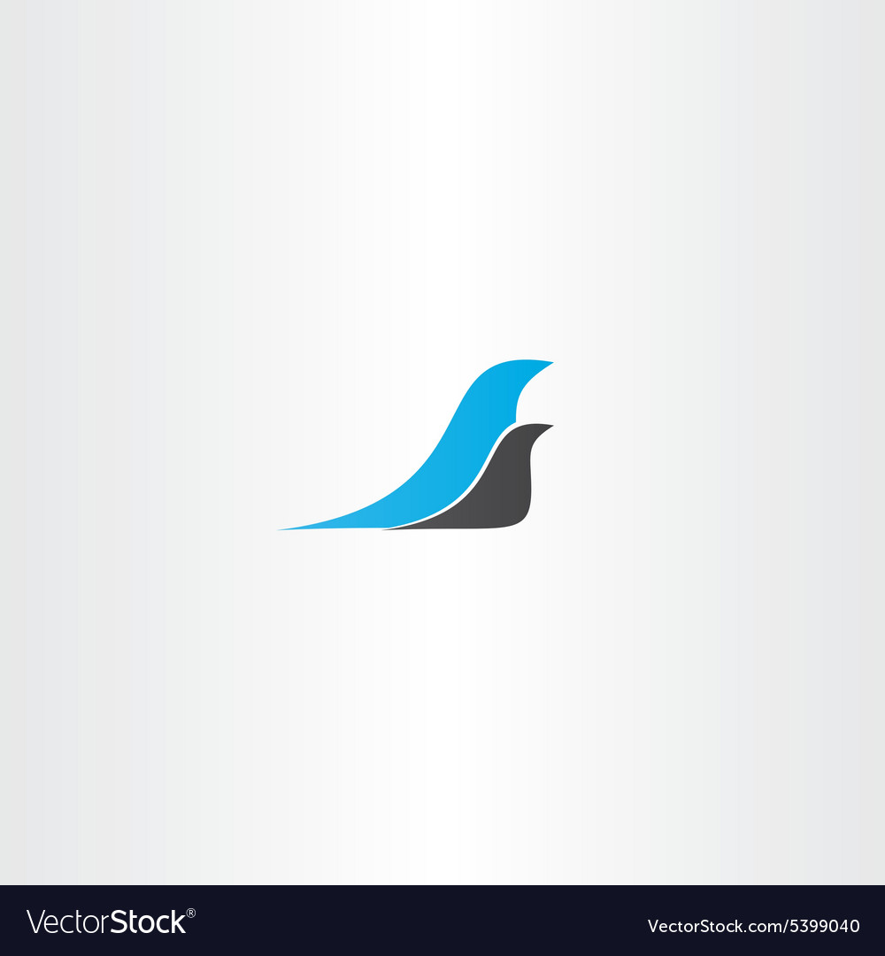 Two birds logo design element vector
