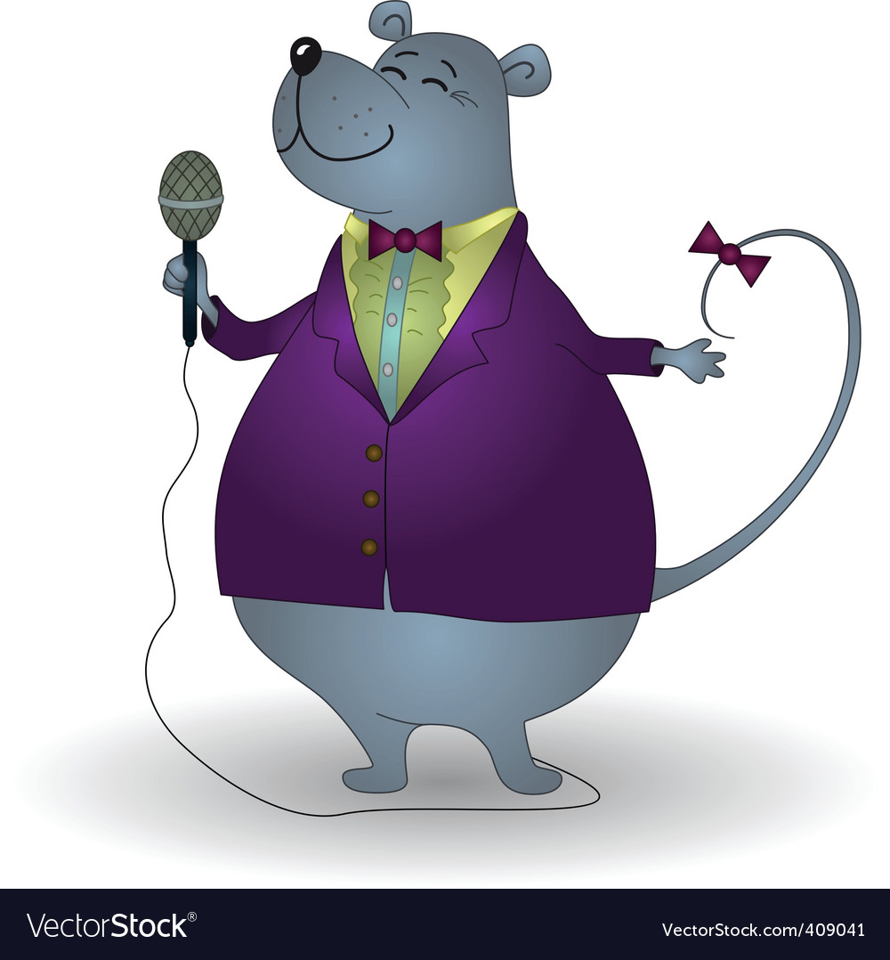 Rat singer vector
