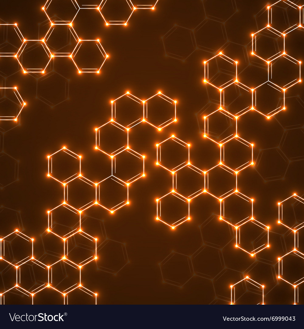 Abstract molecular structures technology vector