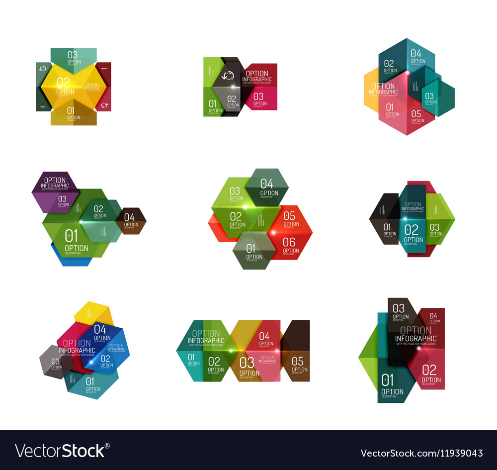 Infographic modern templates  geometric shapes vector