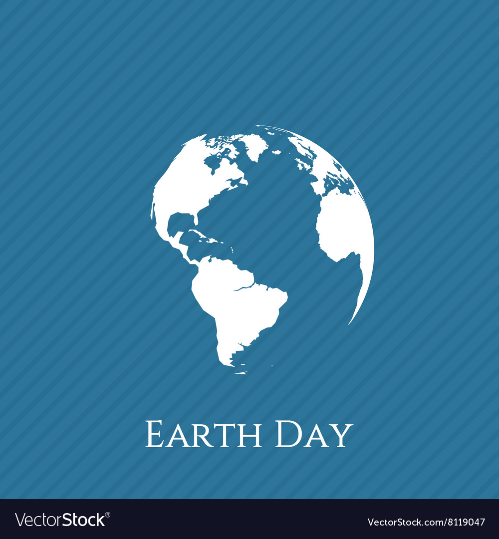Earth day blue and white banner template vector