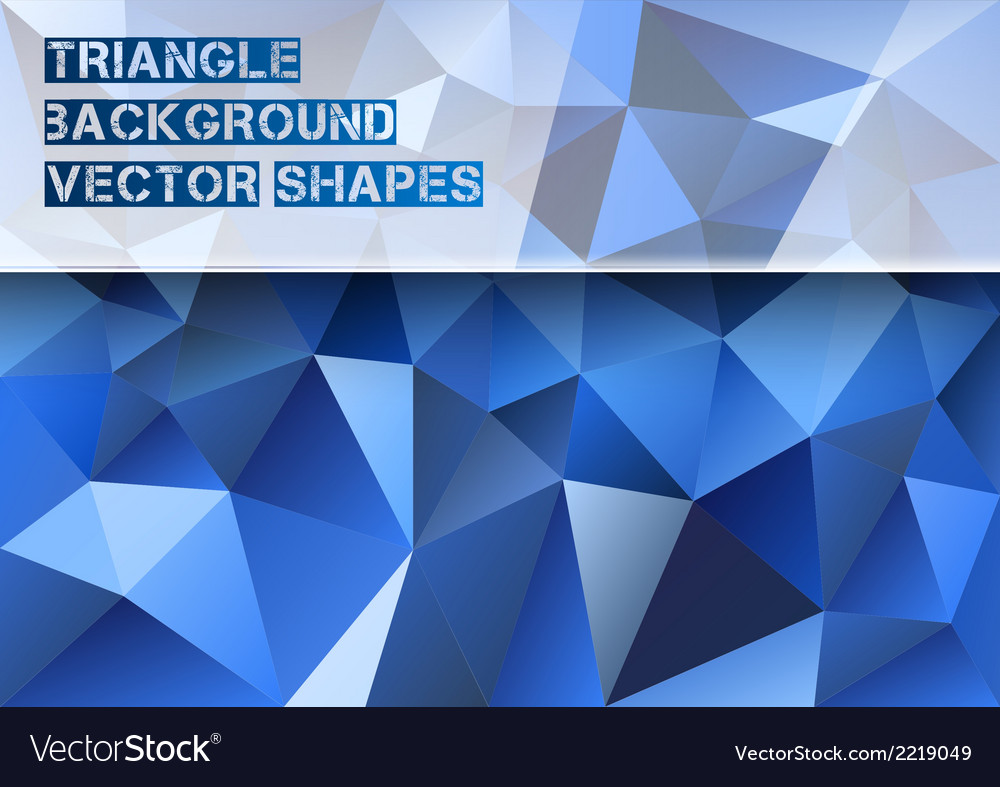 Blue triangles vector