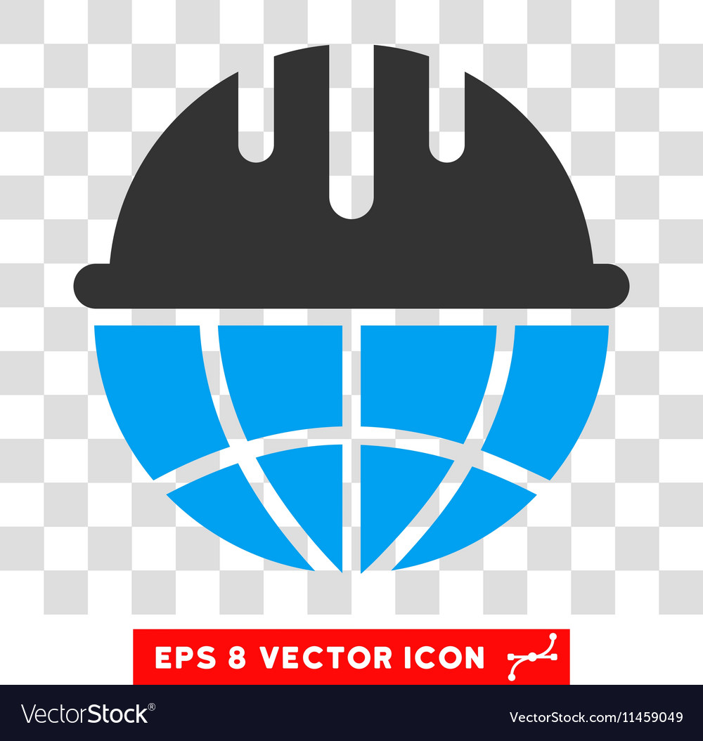 Global safety helmet eps icon vector