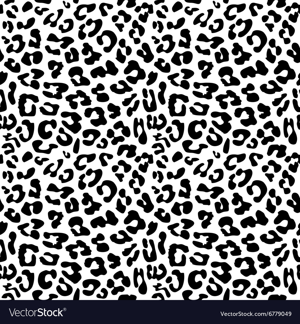 Leopard skin repeated seamless pattern texture vector