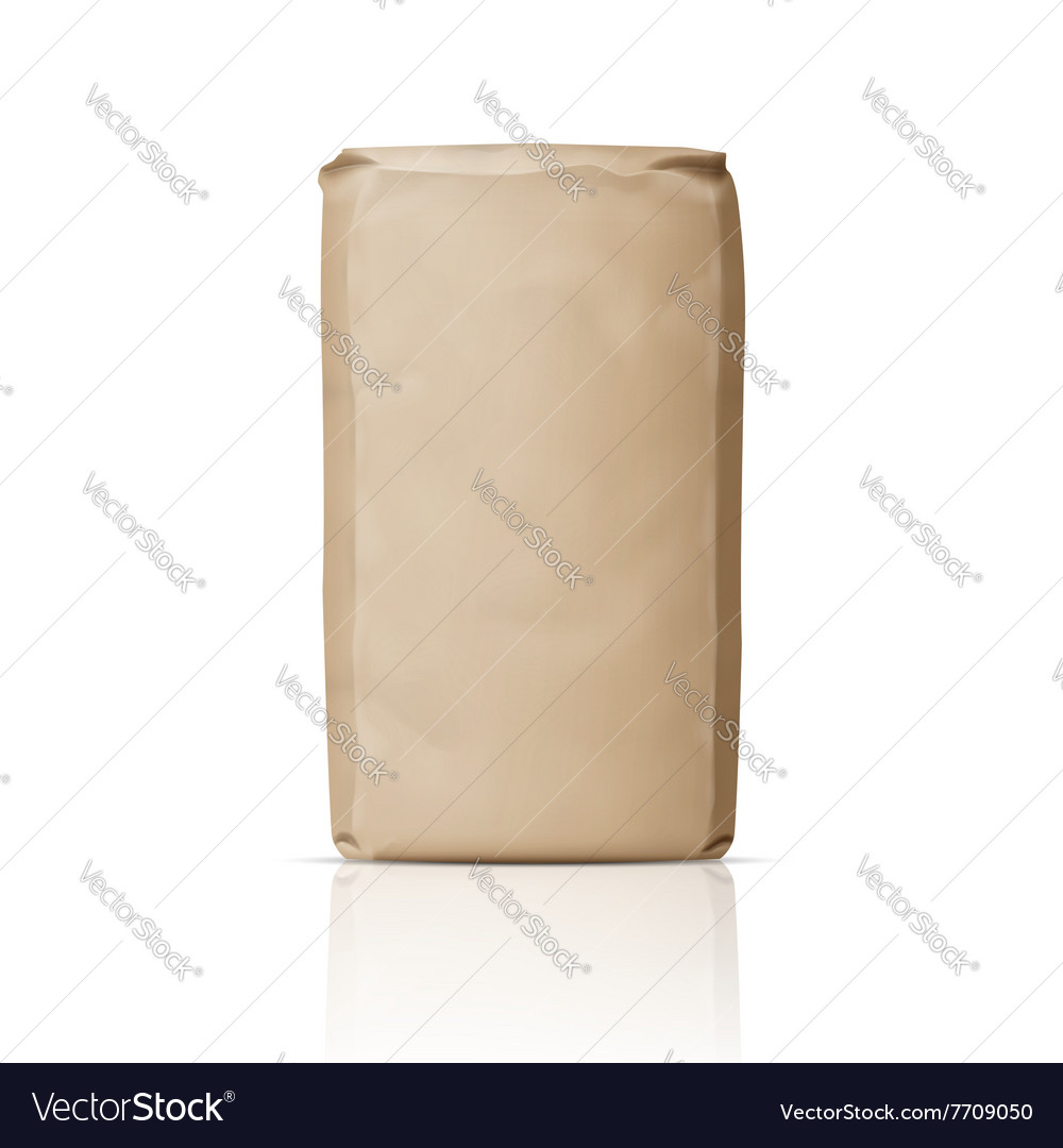 Blank paper sugar bag vector