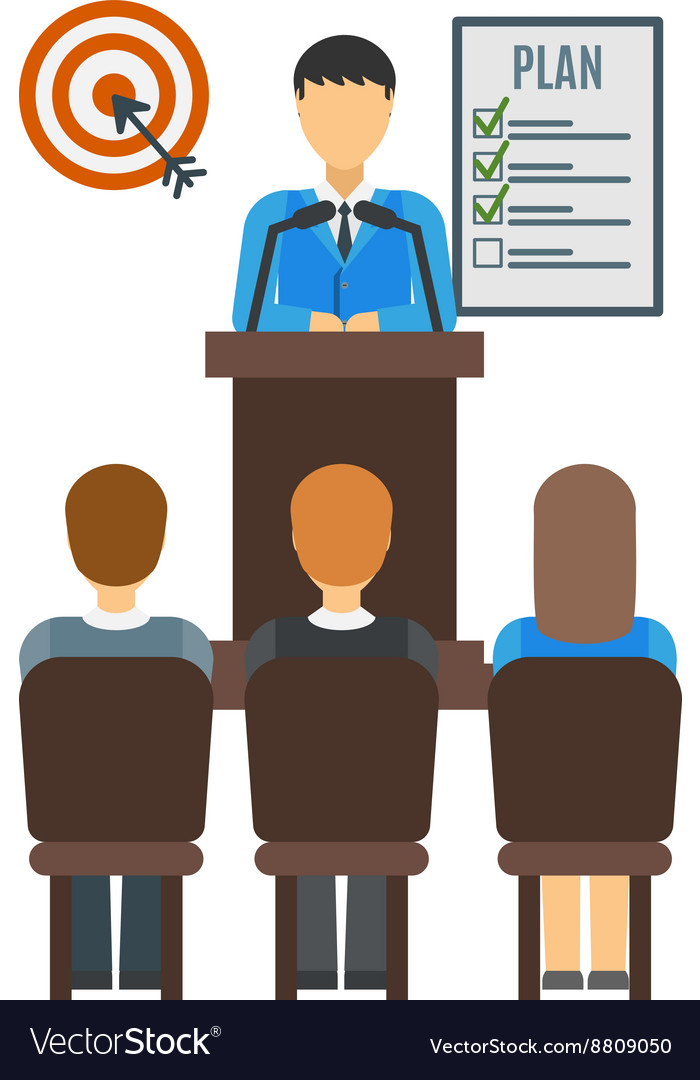 Conference people vector