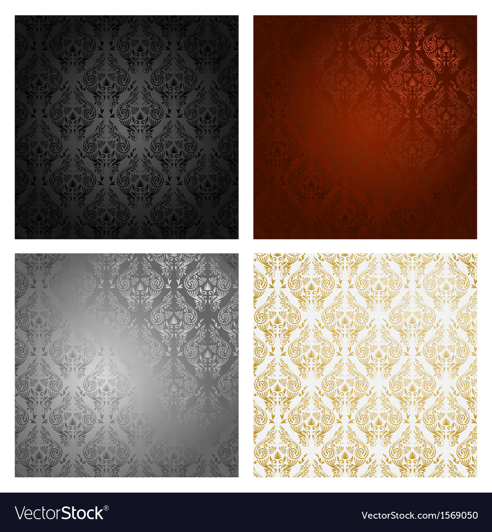 Vintage background seamless pattern vector