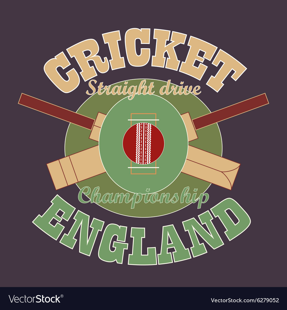 Cricket tshirt graphic design england vector