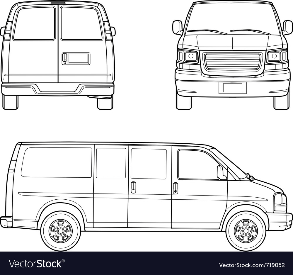 Delivery truck outlines vector
