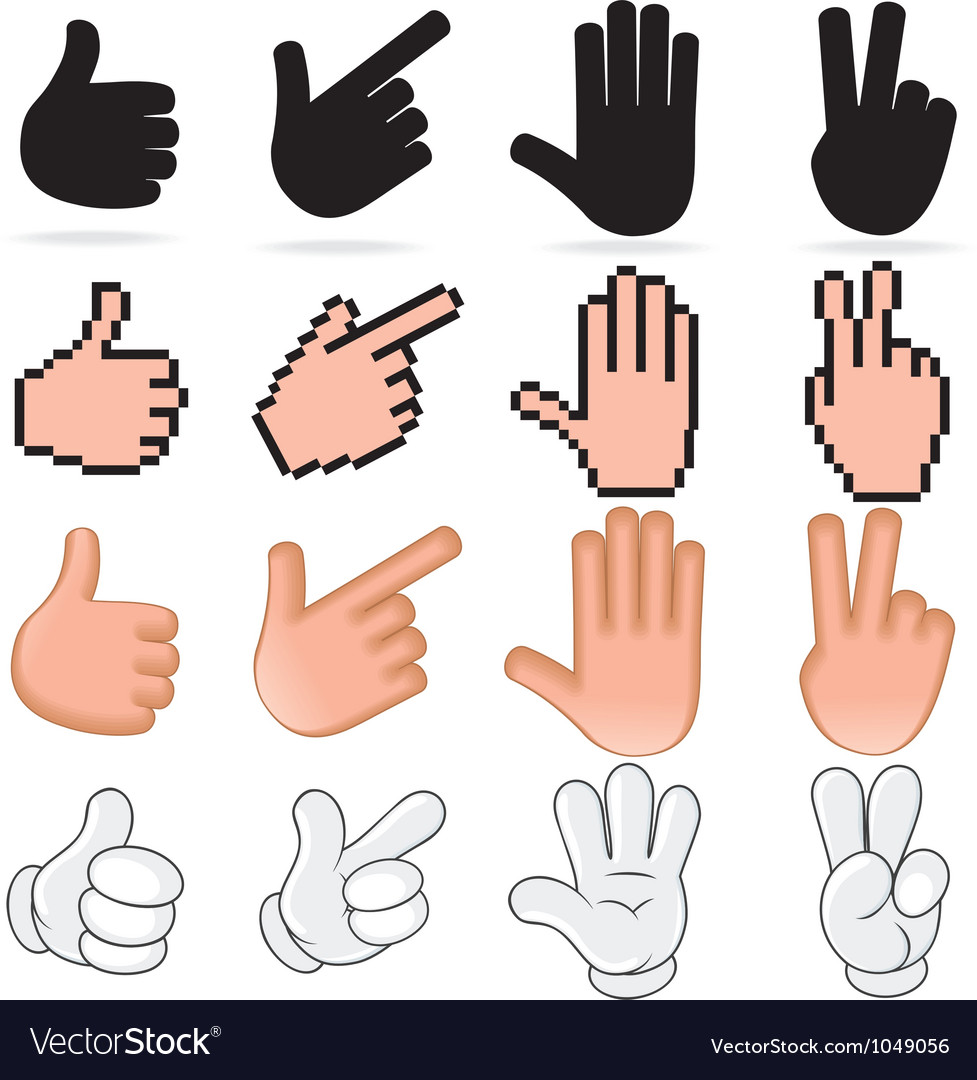 Stylized hands vector
