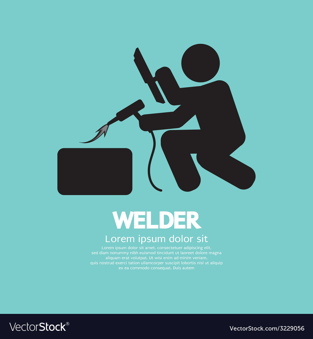 Welder graphic sign vector