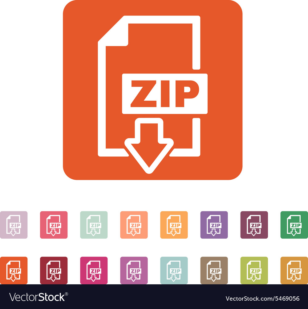 Zip file icon archive and compressed symbol vector