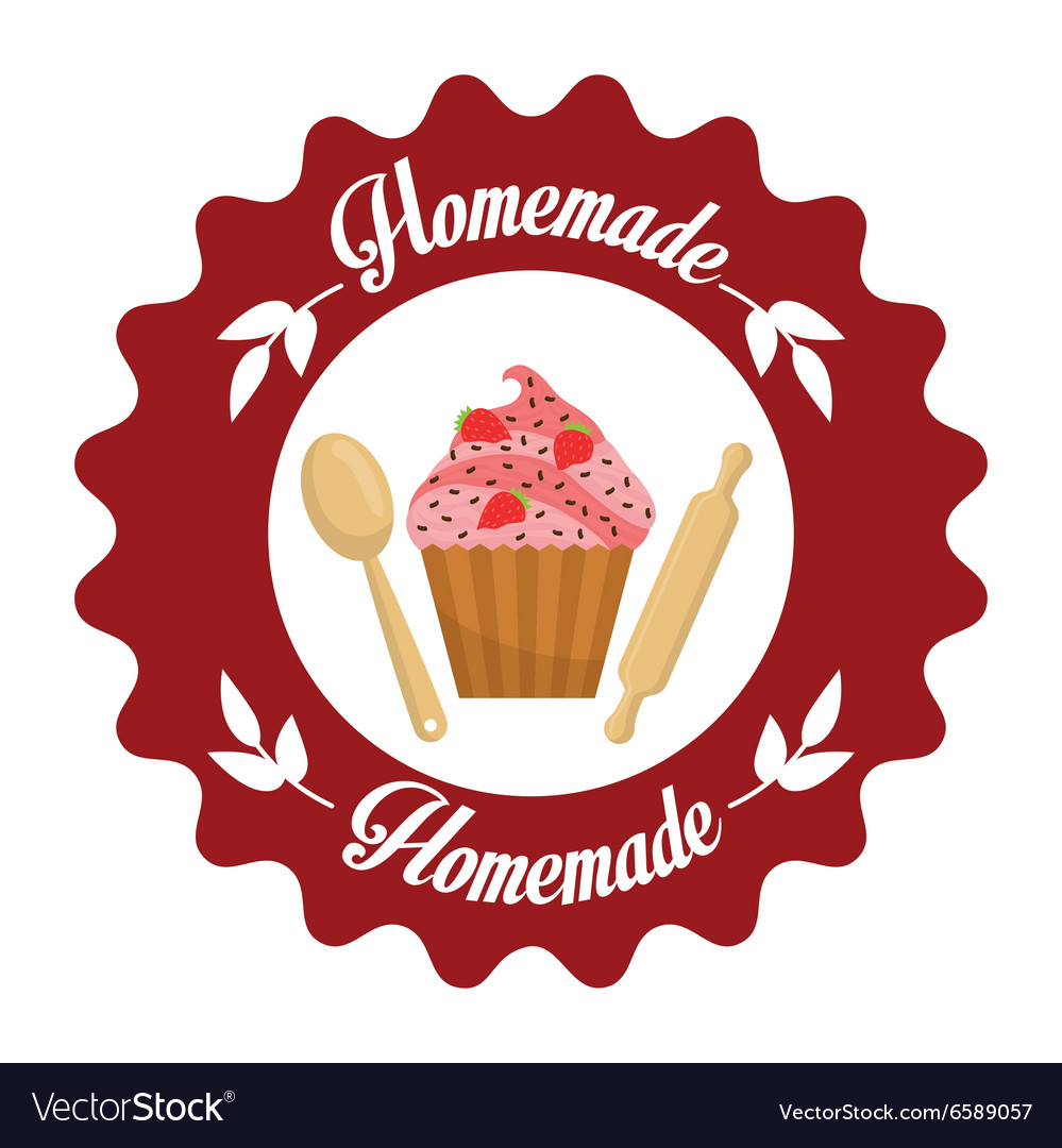 Homemade dessert graphic vector