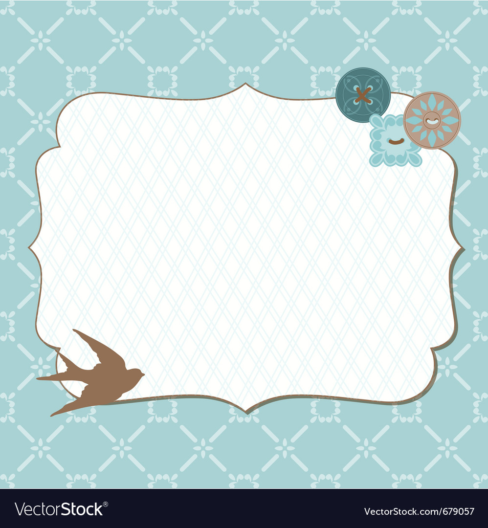 Retro frame card vector