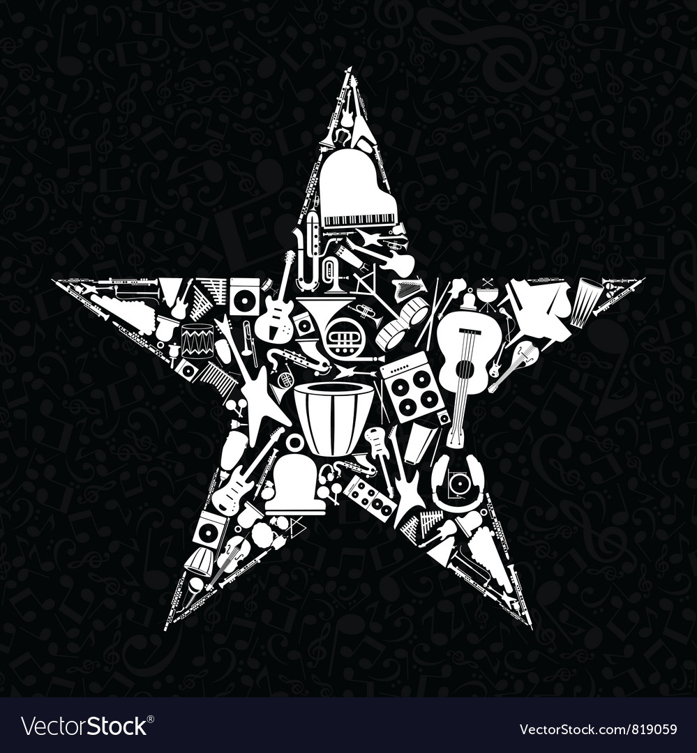 Musical star vector