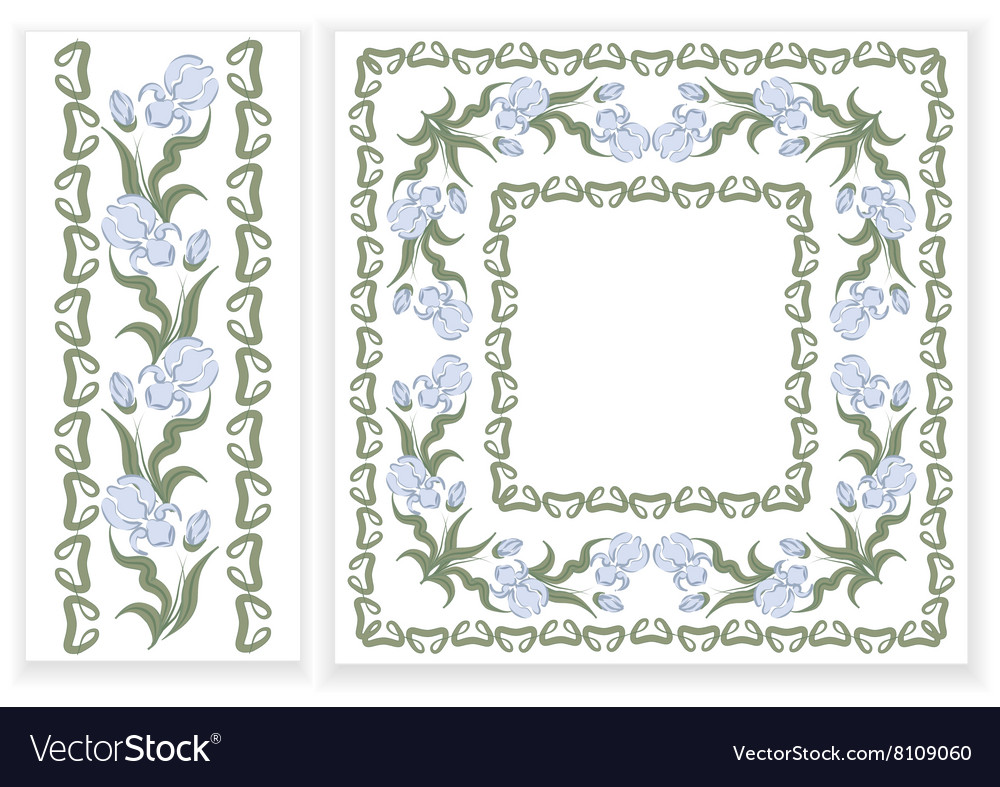 Designs with blue iris vector