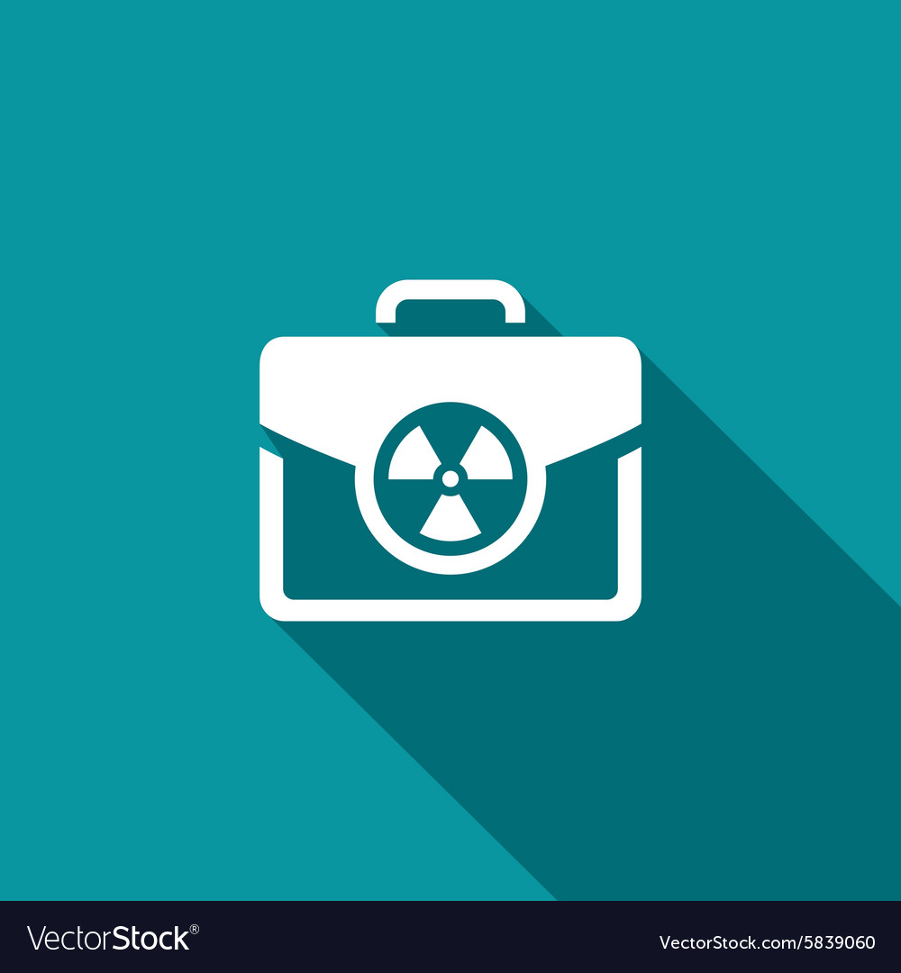 Nuclear suitcase sign vector