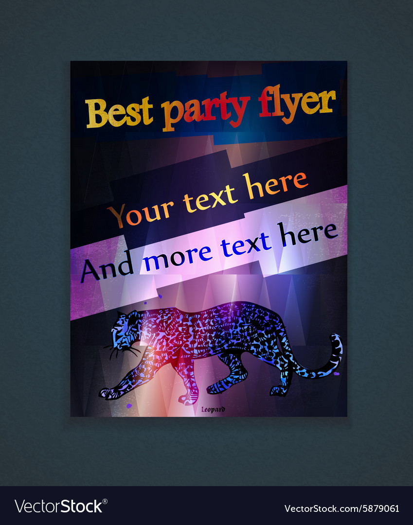 Glowing flyer for a party vector