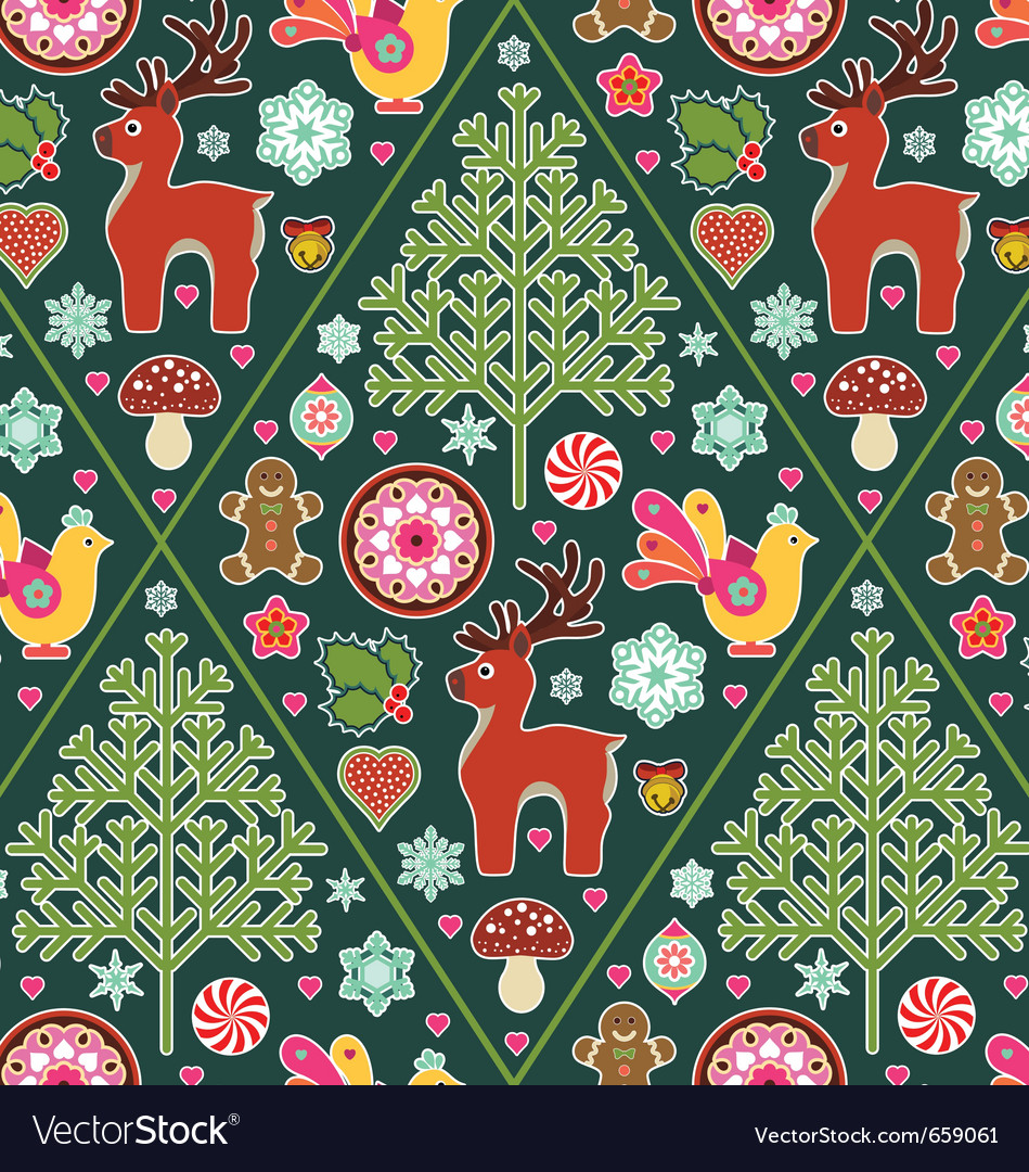 Holiday icons seamless pattern vector