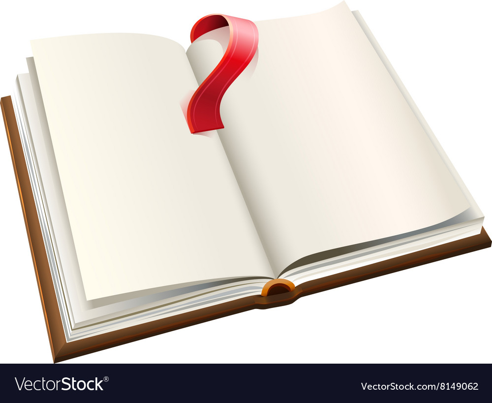 Open book with red bookmark open book with blank vector