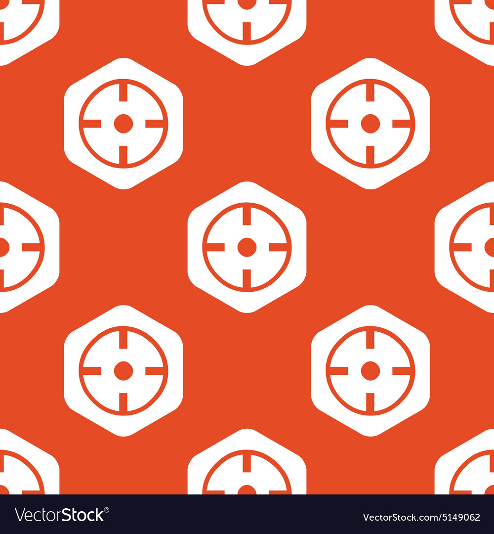 Orange hexagon target pattern vector