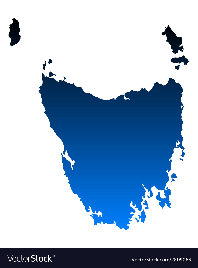 Map of tasmania vector