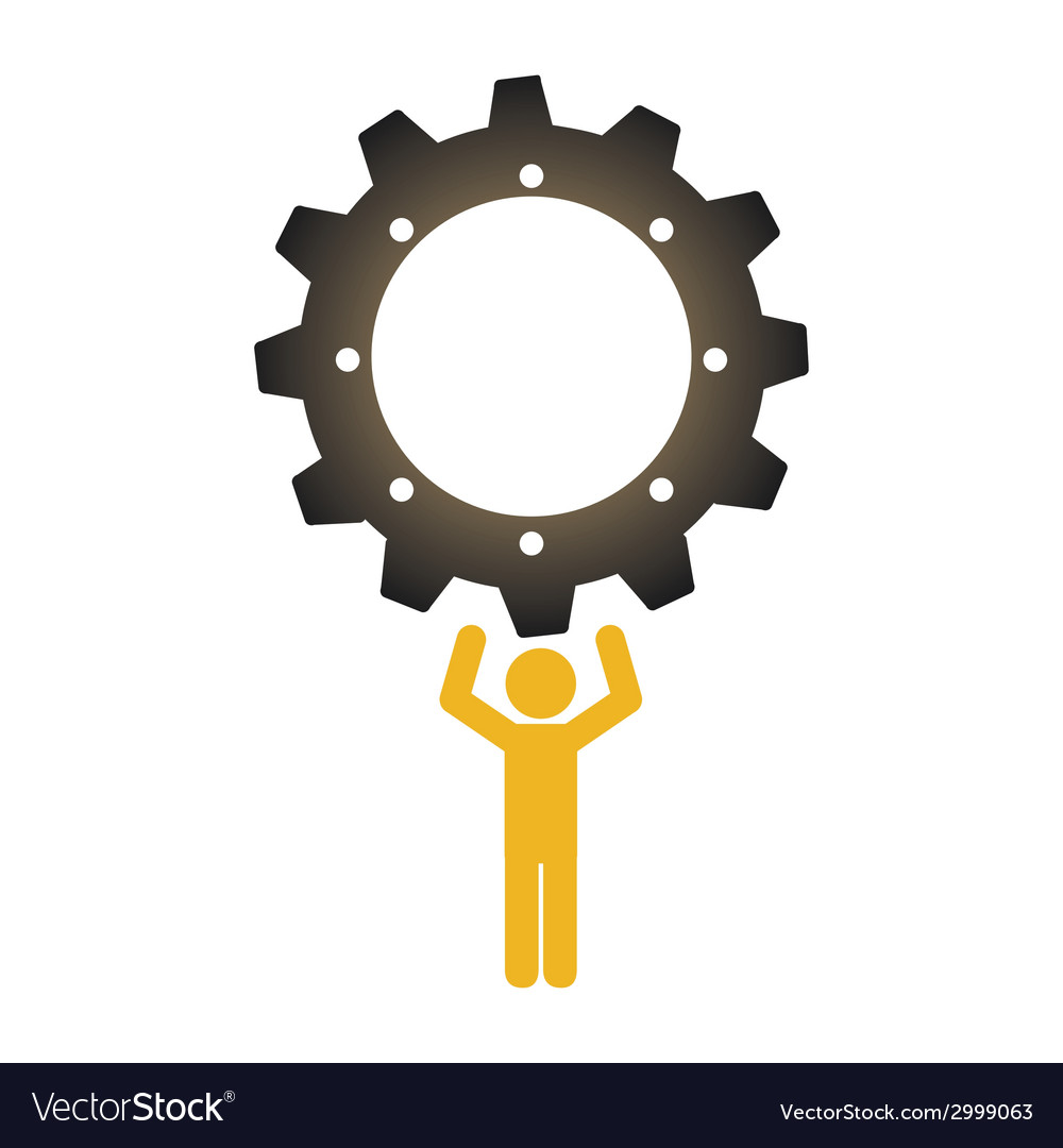 Worker design vector