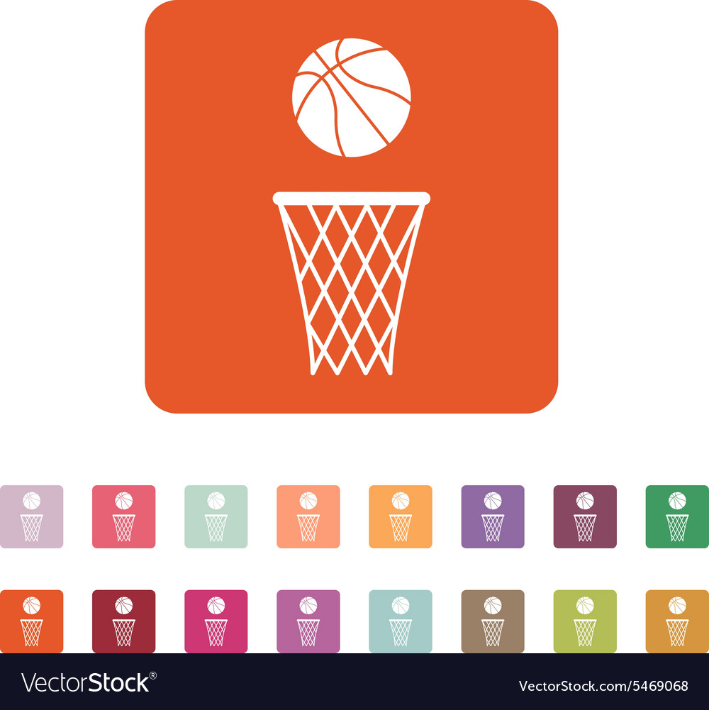 Basketball icon game symbol flat vector