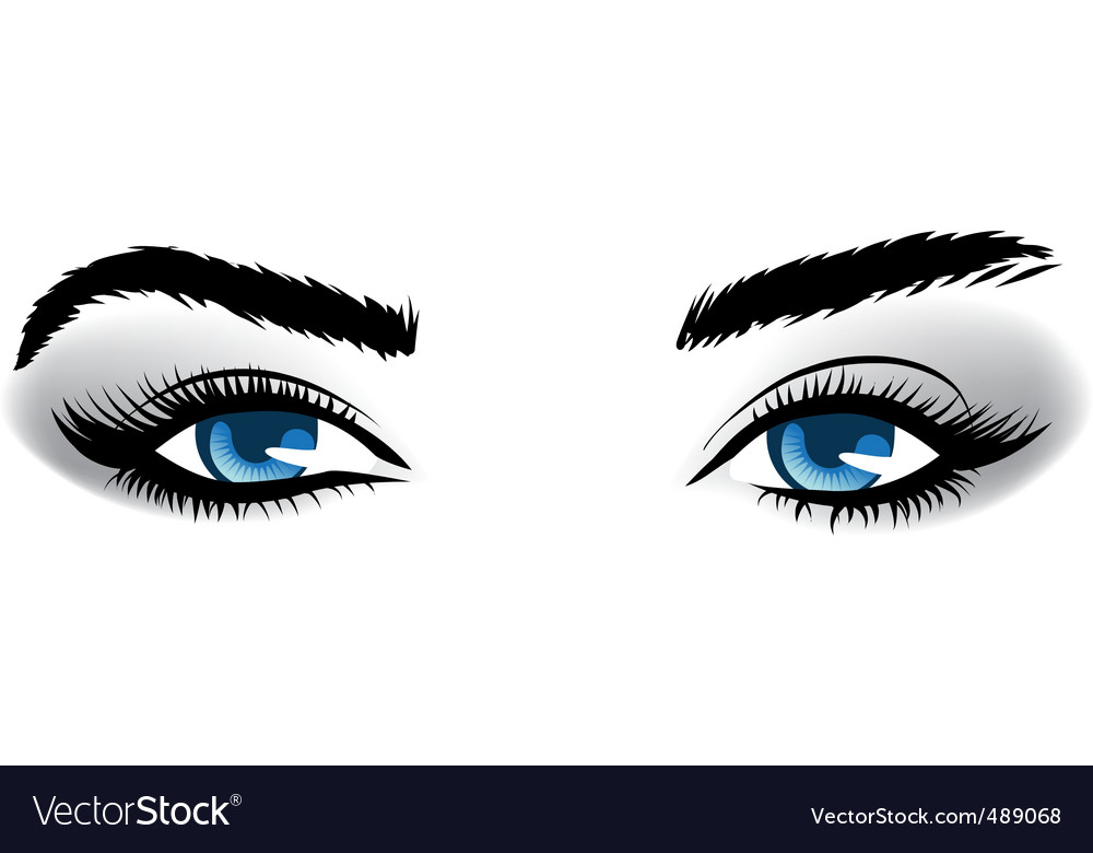 Woman blue eyes vector