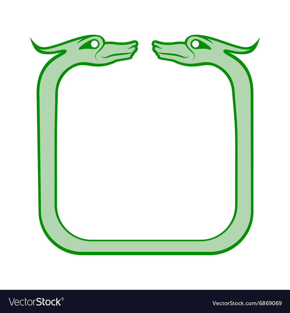 Celtic dog frame vector