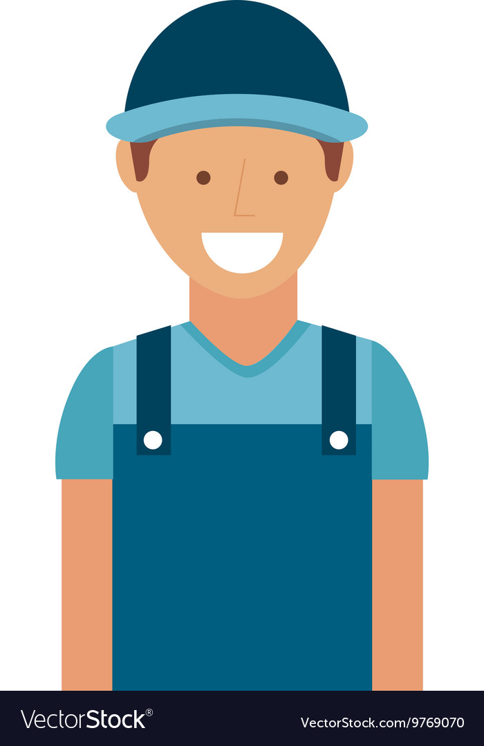 Mechanic man isolated icon design vector