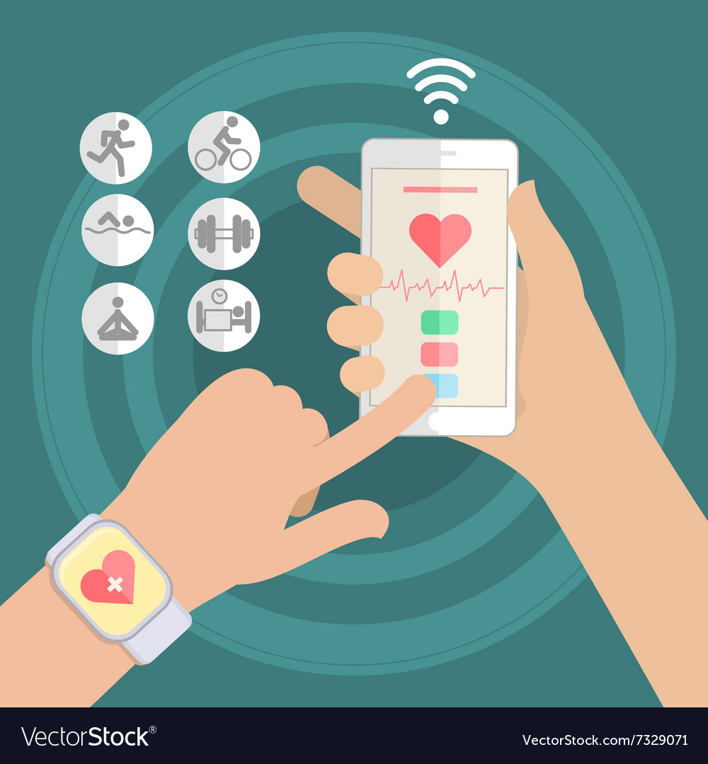 Concept of smart watch vector