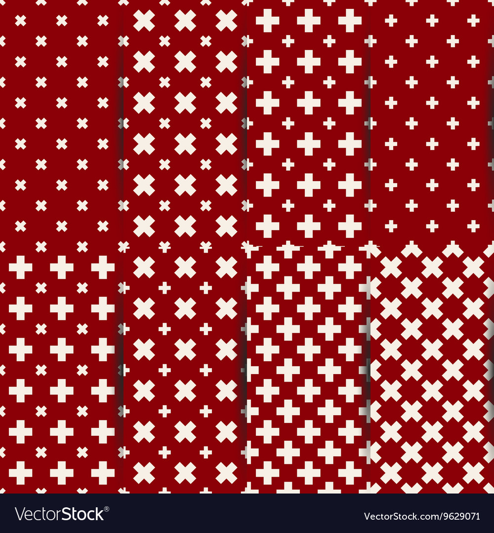 Seamless pattern of cross vector