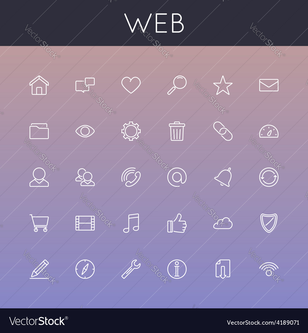 Web line icons vector