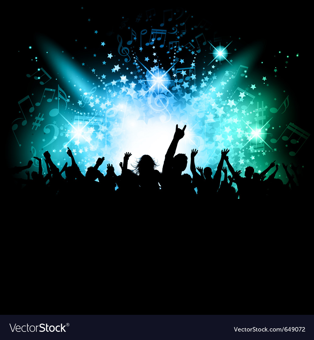 Music crowd vector