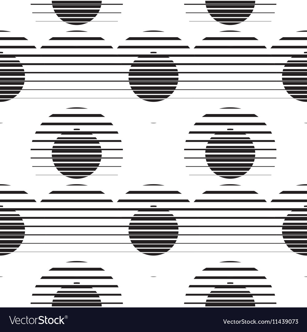 Striped circles on white background vector