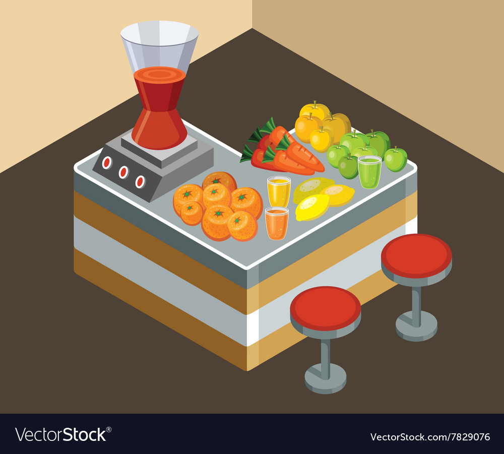 Bar juice vector