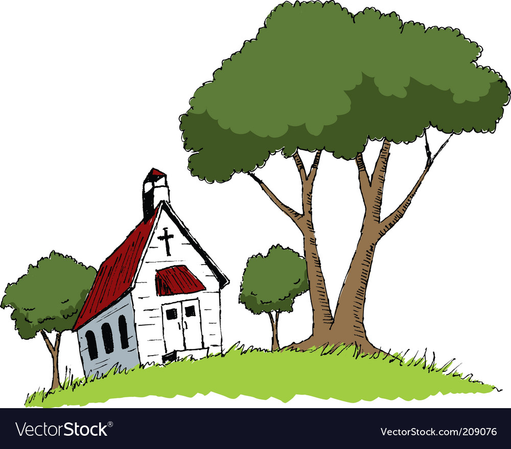 Country church vector