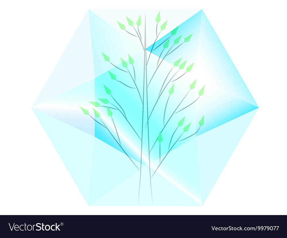 Tree in diamond vector