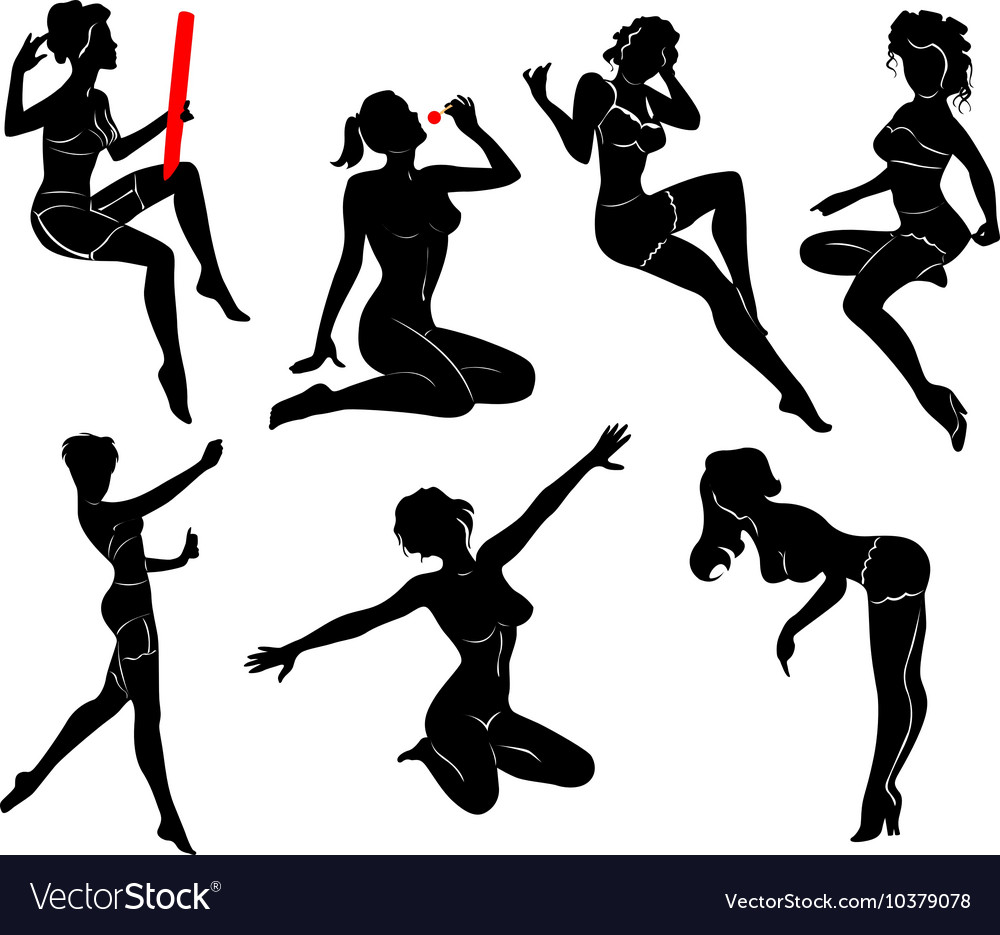 Pin up girl  1 vector