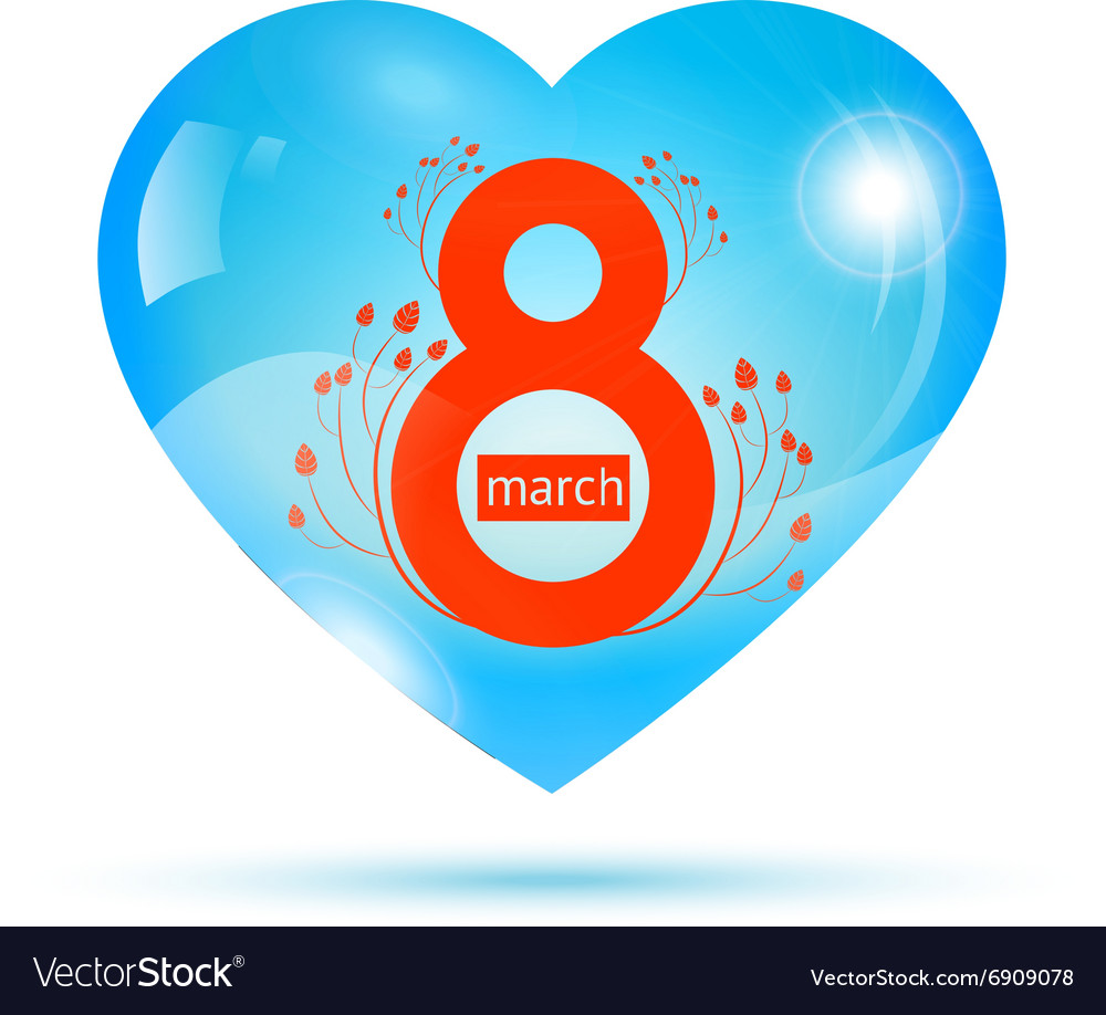 Womens day in heart vector