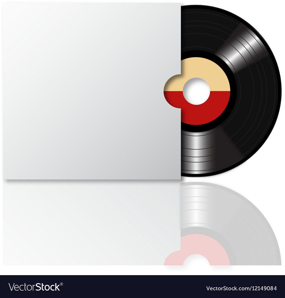 Vinyl record with cover 2 vector