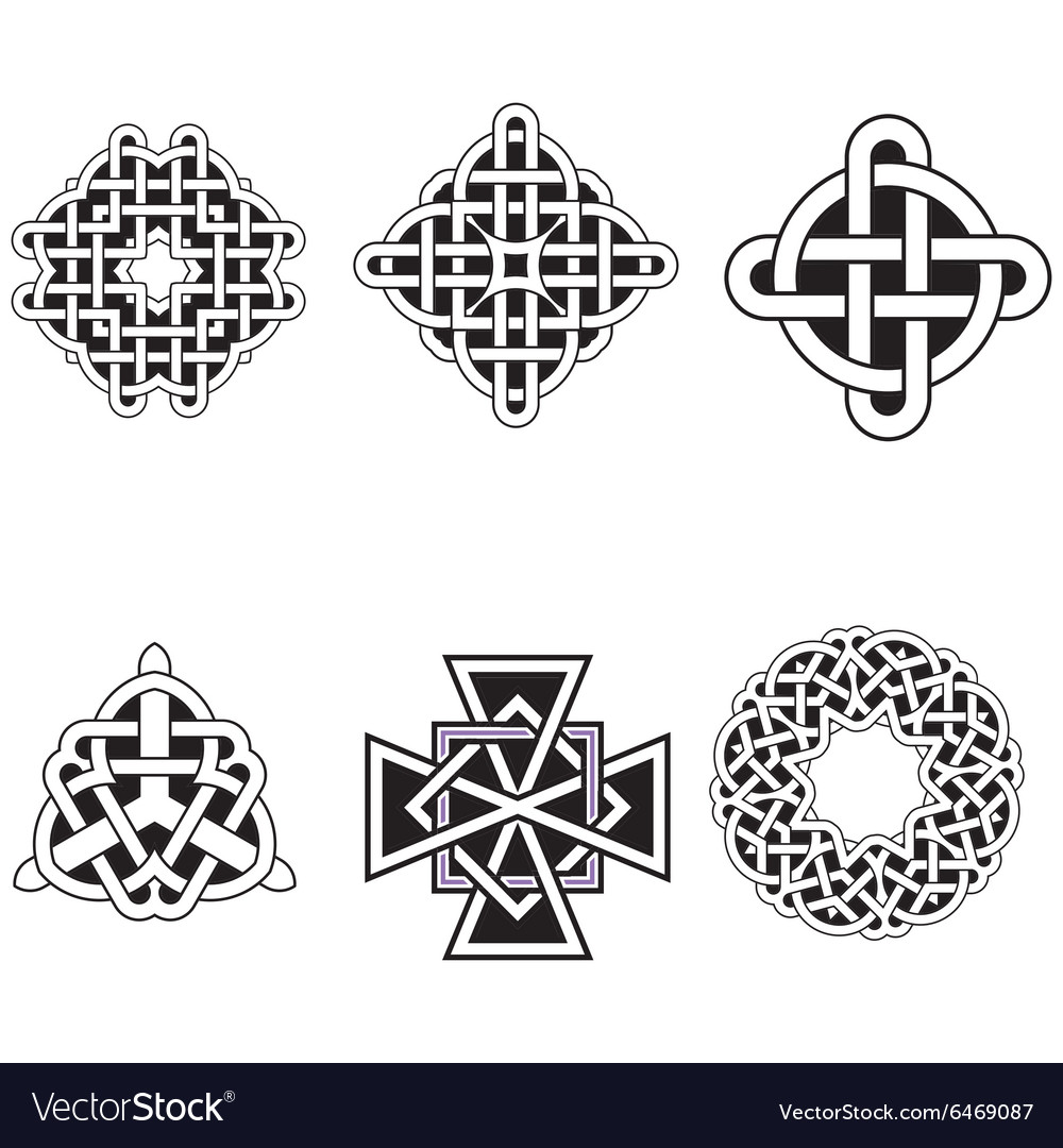 Set of beautiful celtic patterns vector