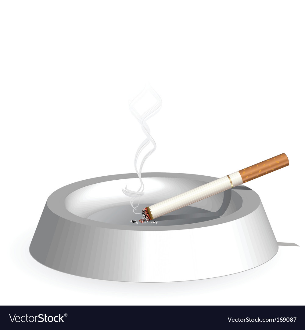 Smoke and ash tray vector
