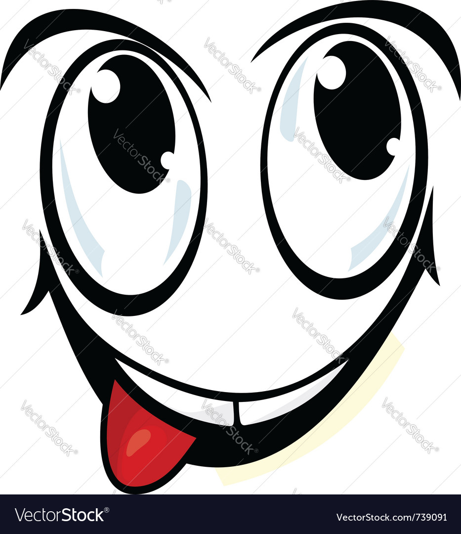 Silly cartoon face vector