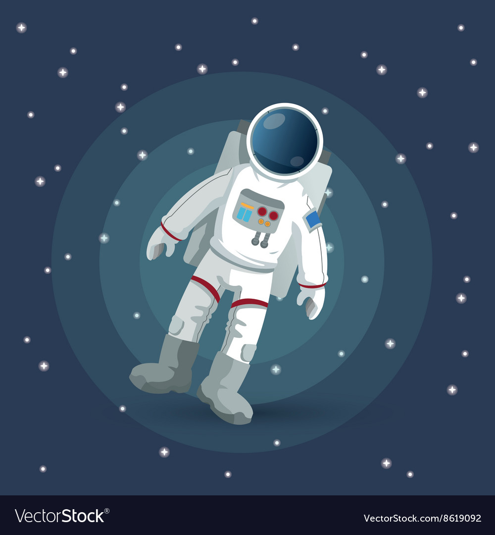 Astronaut sign space concept cosmos icon vector